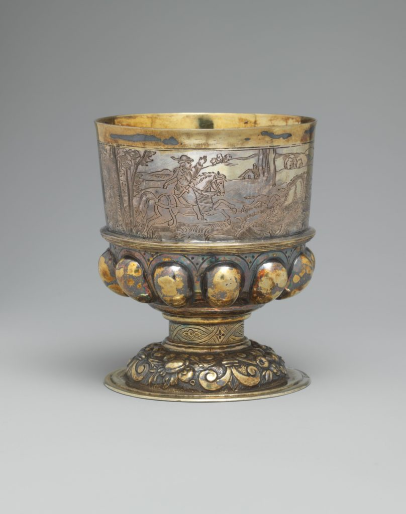 16th-century silver stem cup