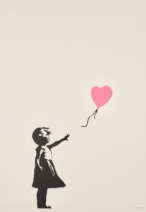 Banksy's Girl With Balloon (Pink). Photo: Sotheby's