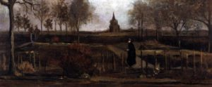 "Vincent van Gogh's ""The Parsonage Garden at Nuenen in Spring 1884 """
