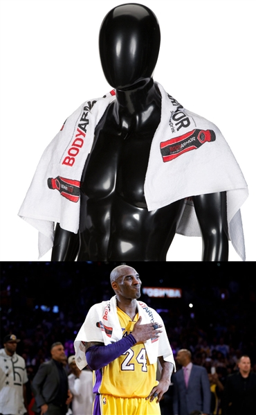 Kobe Bryant Body Armor towel used after final game