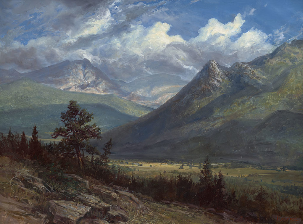 Erik Koeppel - Clouds in the Mummy Range, Rocky Mountains