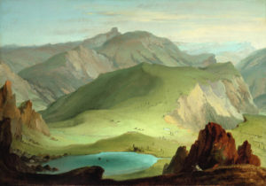 Caspar Wolf's View from the Muntigalm Across Lake Seeberg Toward the Stockhorn Chain