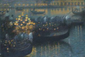 Lucien Lévy-Dhurmer Sérénade au Clair de lune – Venise