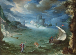 Paul Bril's Coastal Landscape with the Calling of Saint Peter