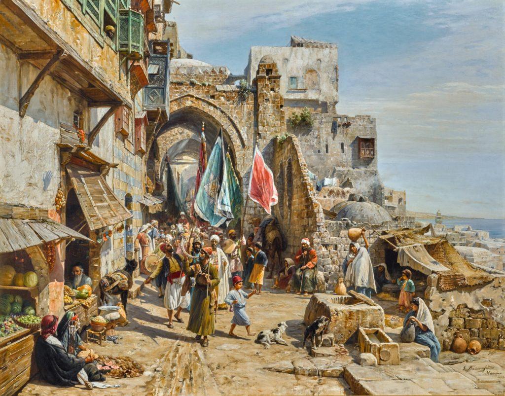 Gustav Bauernfeind's Procession in Jaffa