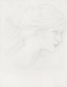 Burne-Jones - Study for An Untold Dream