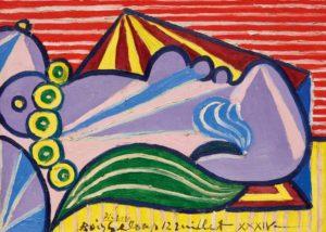 Pablo Picasso - Tete de Femme Endormie