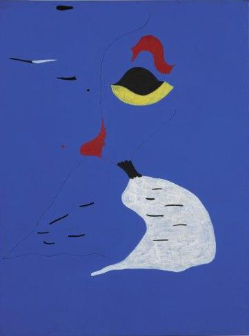 Joan Miro's Peinture (Femme au Chapeau Rouge)