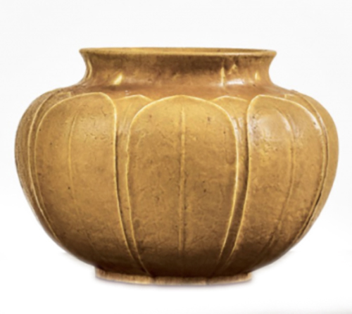 yellow, gold vase