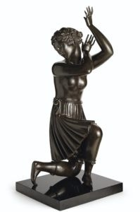 sculpture of woman