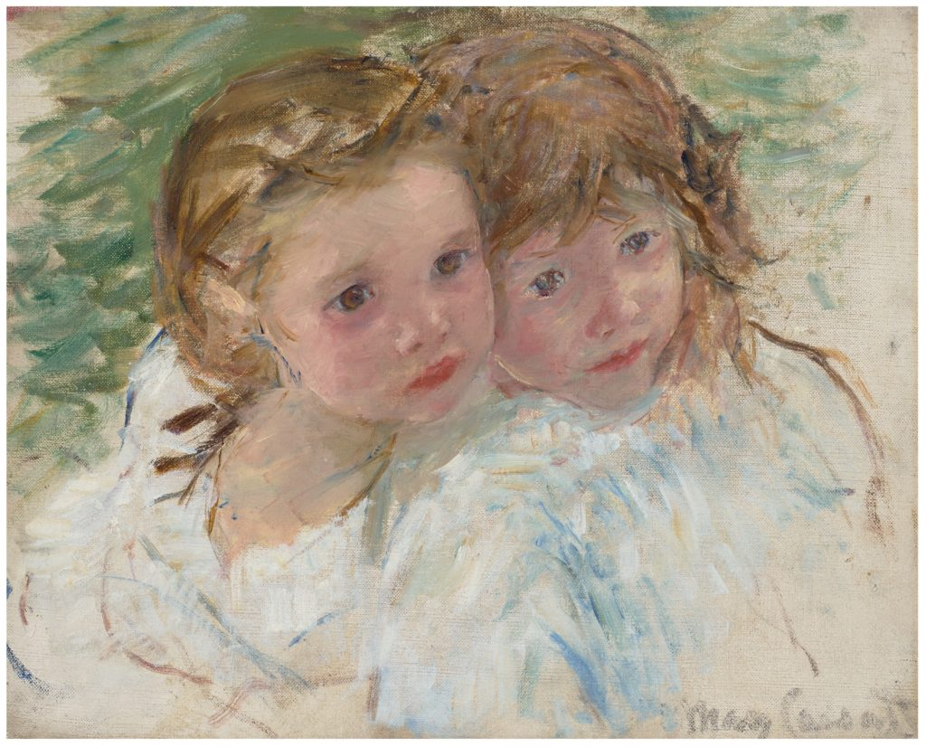 faces of two young girls