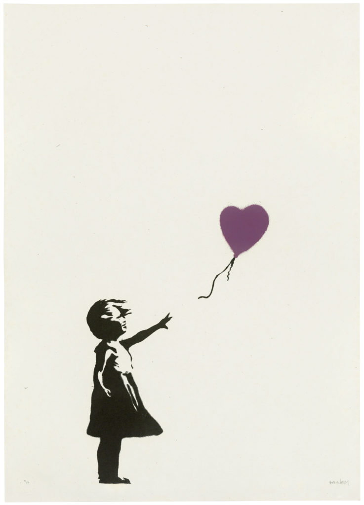 Girl With Balloon - Colour AP (purple)