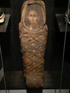 mummy with painted portrait