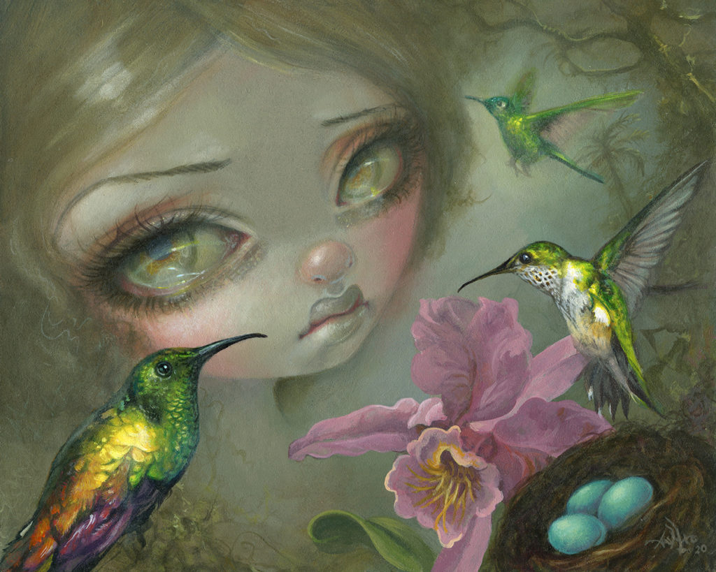 Jasmine Becket Griffith <br/> Ode to Heade <br/> Acrylic on panel <br/> 8 x 10 inches <br/> SOLD