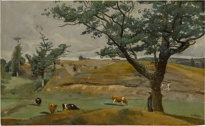 cows and figures in a landscape