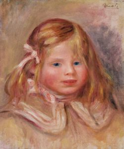face of a young girl