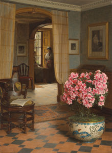 interior with flowers in a vase