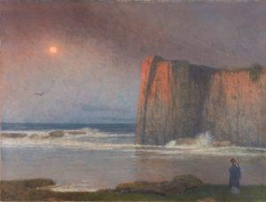 coastal landscape at sunset
