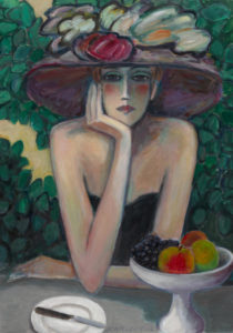 portrait of a woman with a hat