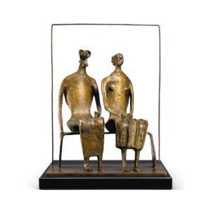 bronze of 2 figures