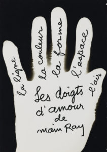 a hand with writing on it