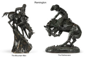 two Remington bronzes