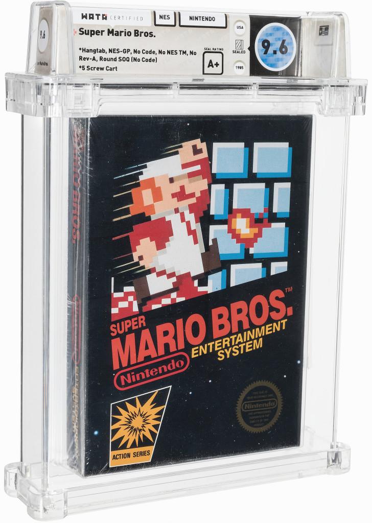 1986 Super Mario Bros. video game cartridge