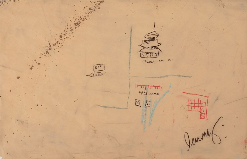 Basquiat Drawing