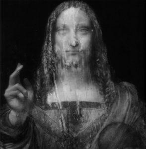 infra-red image of da vinci painting