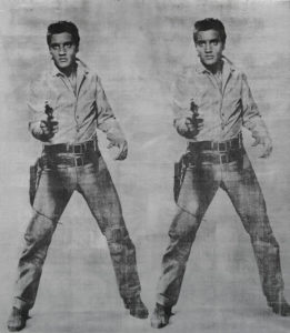 two images of Elvis