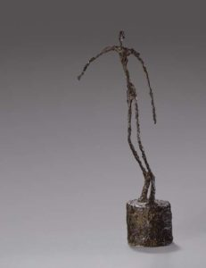bronze sculpture of a thin man