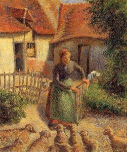 woman with sheep