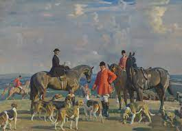 horses, hunters, and fox hounds