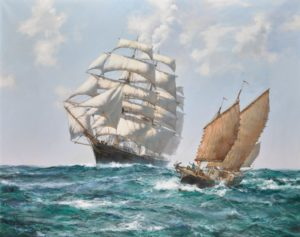 two ships passing each other