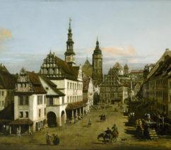 a village town scene