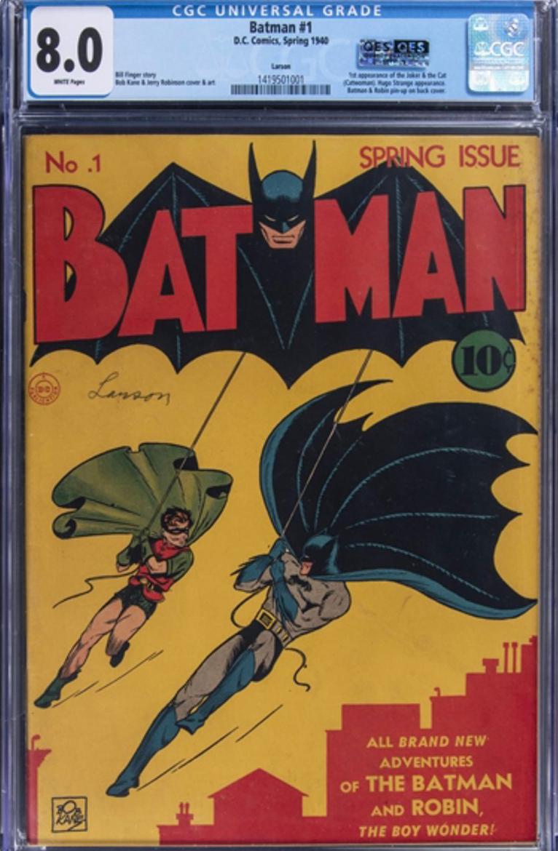 1940 DC comic book featuring Batman