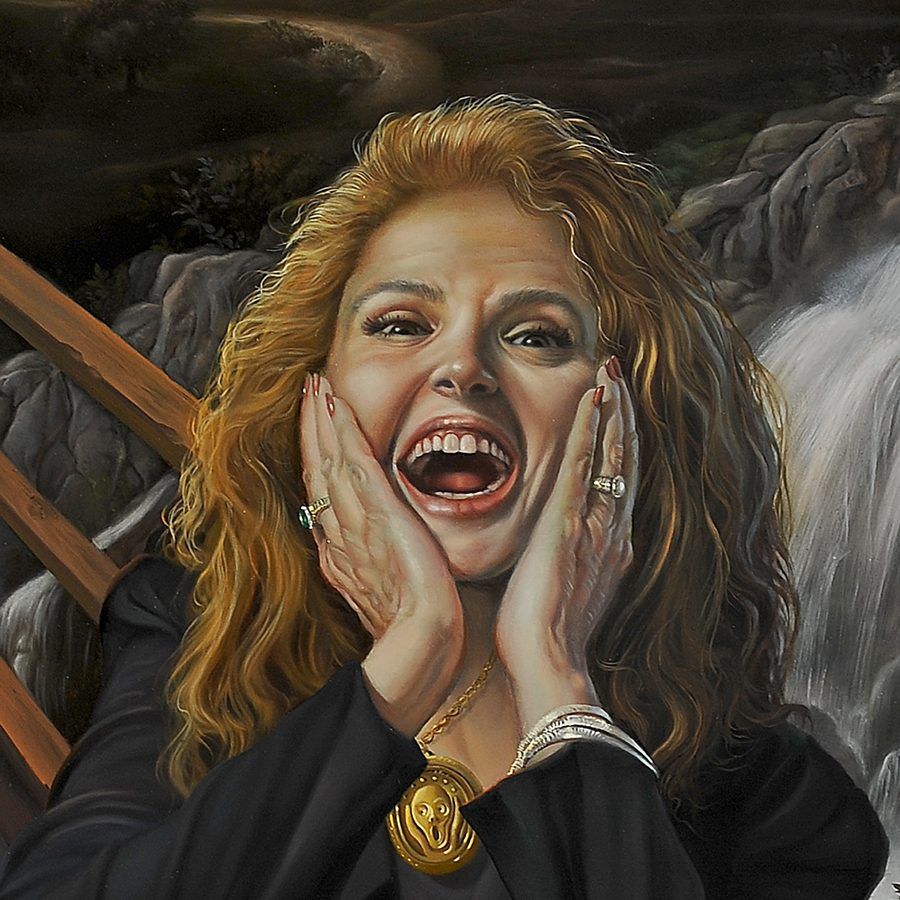 David Bowers - The Scream Me Too - 22.5 x 16.5, oil on wood