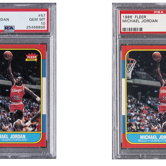 Two Michael Jordan 1986 Fleer Rooikie Cards