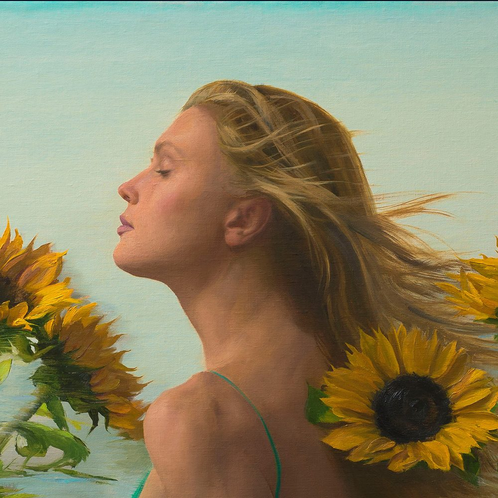 Michael Van Zeyl_Sunlight on my Face_36x36_Oil on Linen Wrapped Panel