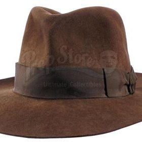 brown felt fedora from Indiana Jones and the Temple of Doom movie