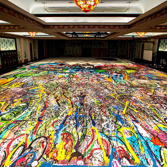 17000 square foot multi color painitng